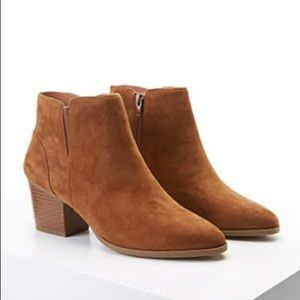 BNWOT Forever 21 Faux Suede Ankle Boots